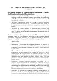 Proceso de formacion socioeconomica del Ecuador