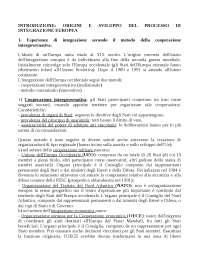 Riassunto diritto dell'unione europea di daniele