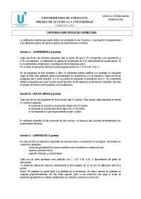Portugués examen PAU Andalucía 2011