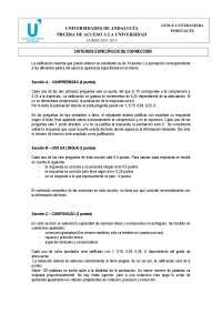 Portugués examen PAU Andalucía 2014