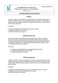 Dibujo artístico examen PAU Andalucía 2012