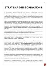 Gestione delle operations