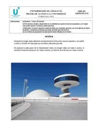 Prueba de accesos selectividad dibujo artístico Andalucía 2012