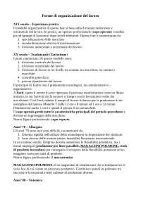 Tecnologia dei cicli produttivi (Prof. Fabrizio D'Ascenzo)