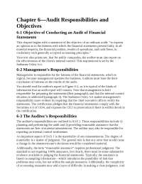 Chapter 6—audit responsibilities and objectives