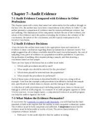 Chapter 7 audit evidence