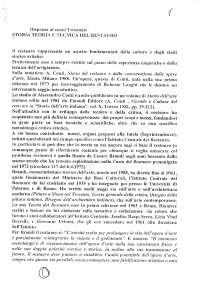 Dispensa storia teoria e tecnica del restauro