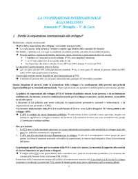 Riassunto Cooperazione internazionale allo sviluppo - Bonaglia, de Luca