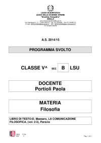 5b lsu programma filosofia
