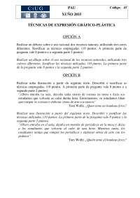 Exámenes de técnicas de expresión gráfico plástica selectividad Galicia 2015