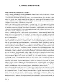 Politica y moral en Maquiavelo