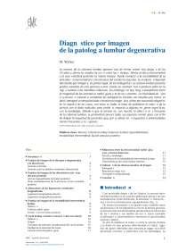 Diagnostico por imagen de patologia lumbar degenerativa