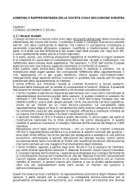 Lobbying e rappresentanza della società civile nell'Unione europea