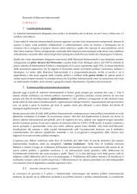 Riassunti di relazioni internazionali (libro Relazioni Internazionali, Il Mulino)