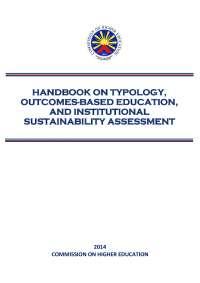 Handbook on typology outcomes