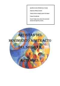 Artistas del movimiento abstracto del siglo XX y actuales