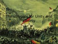 The struggle for unity and liberty pt. 2 of Germany