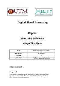 Delay Time estimation with chirp signal
