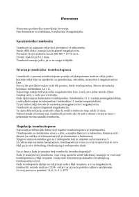 Hemostaza i trombociti