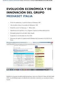 Traballo individual mediaset italia