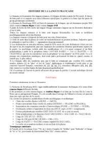 Riassunto histoire de la langue francaise