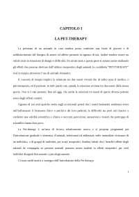 TESI DI LAUREA PET-THERAPY