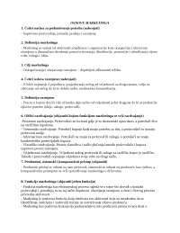 Marketing i kolokvijum, Ispiti' predlog Finansijski menadžment