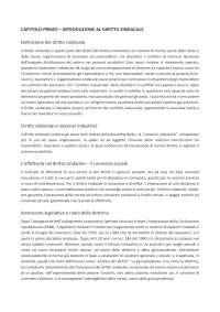 Diritto delle relazioni industriali UNICH Guarriello - riassunto libro Diritto Sindacale - Giugni 2014