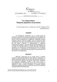 Las chaperoninas: máquinas plegadoras de proteínas