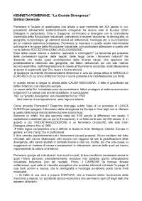 Pomeranz, The Great Divergence (in italiano)