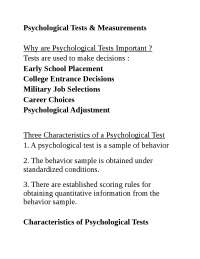 Psychological assessment review