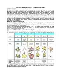 Respuesta inmune nociva - hipersensibilidad