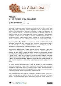 La ciudad de la Alhambra
