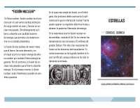 Ciencias química. Tríptico. Las estrellas y su funcionamiento