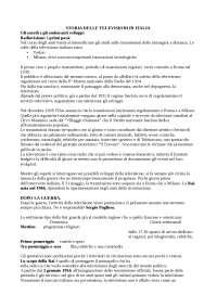 Riassunto storia delle televisioni in italia