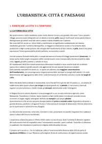"""Riassunto """"L'urbanistica: città e paesaggi"""" - Fabio Fabiani"""