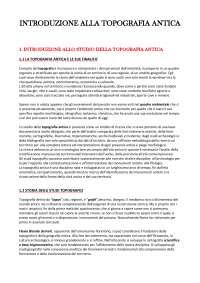 """Riassunto """"Introduzione alla topografia antica"""" - Lorenzo Quilici, Stefania Quilici Gigli"""