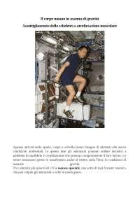 Tesina Luna Educazione Fisica Il corpo umano in assenza di gravità