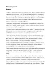 Trabajo obligatorio Las mujeres y la literatura. Odisea I