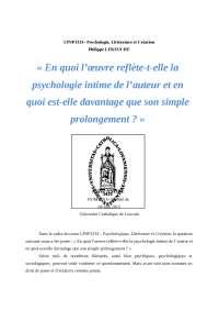 Psychologie, littérature et création
