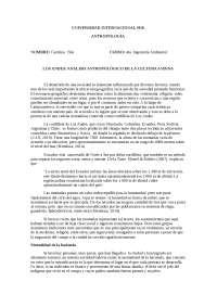 Los andes analisis antropolÓgico de la cultura andina