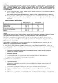 Concepto y Clasificaciones de la Anemia