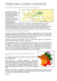 Storia della lingua francese