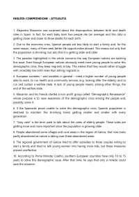 Soluzioni della seconda prova di inglese (Comprensione ) Liceo Linguistico - Maturità 2016