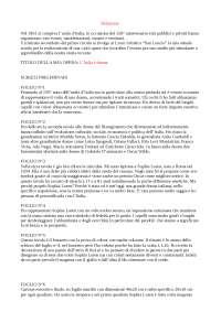 Relazione di  progettazione per il  150° anno dell'Unità d'Italia