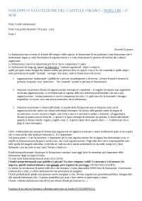 Sviluppo e Valutazione del capitale umano e degli interventi formativi