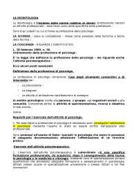 Appunti d'esame - Deontologia professionale