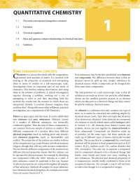 Capitulo1 quantitative chemistry