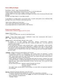 Schemi riassuntivi di Storia della psicologia - Luccio e Mecacci