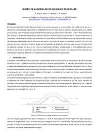 DISEÑO DE LA BERMA DE PIE EN DIQUES ROMPEOLAS